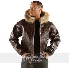 usher raymond rock star style brown quilted mens leather fashion er jacket front view