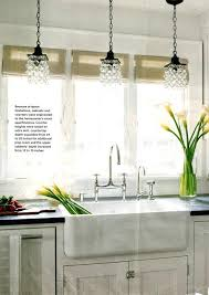 kitchen sink lighting ideas. Wonderful Kitchen Over The Sink Lighting Kitchen Awesome Crystal In A White  With Yellow Flower Glass Vase Pendant Ideas Intended H