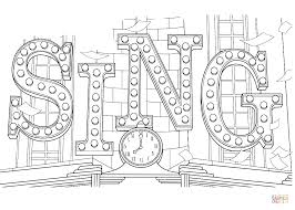 Small Picture Sing Movie coloring page Free Printable Coloring Pages