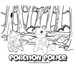 Pokemon Power Coloringpage Kleurplaat Pogo Coloring Pages With