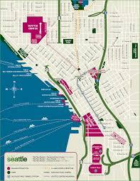 custom seattle map  visit seattle