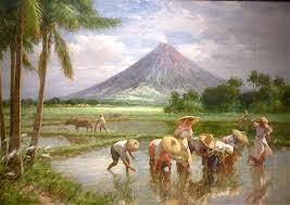 mayon volcano painted by fernando amorsolo