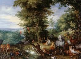 description of the artwork adam and eve in the garden of eden