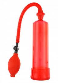 <b>Вакуумная Помпа Penis Enlarger</b> Pump красная - 19 см ...