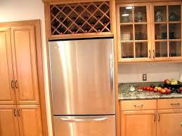 wine rack cabinet above fridge. Over The Fridge Storage Wine Rack Freezer Around Refrigerator Cabinet Above I