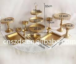 of gold cake stand wedding cupcake set glass dome crystal