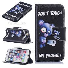 pattern printing leather wallet cover case for iphone 6s 6 4 7 bear and do not