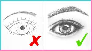 eyes drawings dos donts how to draw realistic eyes easy step by step art