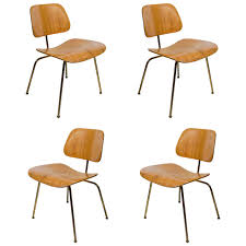 Iconic Modern Furniture Set Of Four Iconic Modernist Bentwood Chairs Designed By Eames For