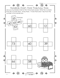 Hundreds Chart Worksheet 10 More Than 10 Less Than