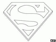 Small Picture Superhero Coloring Pages Superman Logo jman Pinterest