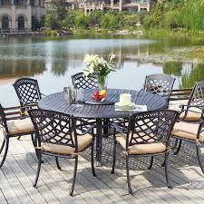 darlee sedona 9 piece cast aluminum patio dining set piece patio dining set g44