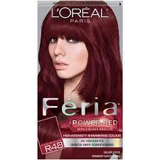 Feria Loreal Color Chart Lloreal Paris Feria Multi Faceted Shimmering Permanent Hair Color R48 Red Velvet Intense Deep Auburn 1 Kit