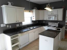 kitchen ideas white cabinets black countertop