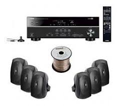 yamaha outdoor speakers. yamaha rx-v377 5.1-channel a/v home theater receiver + ns outdoor speakers