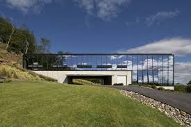 architecture houses glass. The Shokan House Side View Glass Facade Architecture Houses K