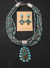 la rose ganado royston turquoise sterling necklace set native american