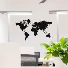 Waterdichte Big Size Muursticker Wereldkaart Home Decor Woonkamer