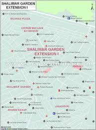 Shalimar Garden Extention1 Map