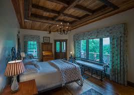 reclaimed wood tray ceiling in bedroom