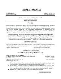 military experience resume example on template free 3