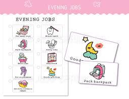 Kids Chore Chart Printable Pink