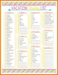 Vacation Packing List Printable - April.onthemarch.co