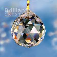 30mm faceted k9 clear crystal chandelier ball bc2001