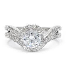 diamond halo enement ring
