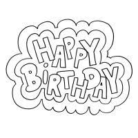 Kleurplaten Happy Birthday 1 Happy Birthday World
