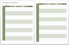 Vertical Weekly Calendar 15 Free Weekly Calendar Templates Smartsheet