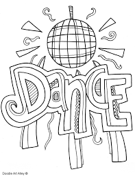 Dance Coloring Pages Coloring Pages