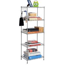 china diy 5 tiers open silver grey coated metal home livingroom storage book shelves ideas china bookshelves light duty home wire rack
