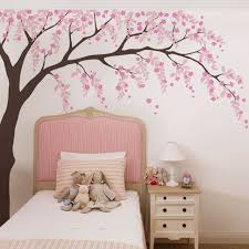 birds and branches wall decal weeping willow tree decal with cherry blossoms
