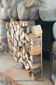 diy faux stacked logs fireplace facade genius