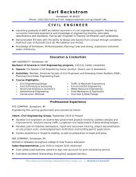 Template Resume Entry Level Mechanical Engineer Engineering Civil