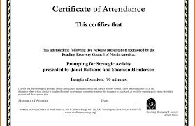 Attendance Award Template Attendance Certificate Template Free Perfect Employee Word