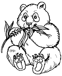 Small Picture Panda coloring pages eating bamboo ColoringStar