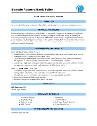 Personal Banker Resume Templates Personal Banker Resume ingyenoltoztetosjatekok 12