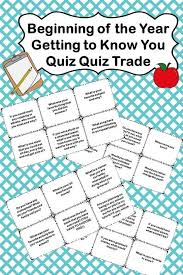Back To School Quiz Quiz Trade Cards School Quiz