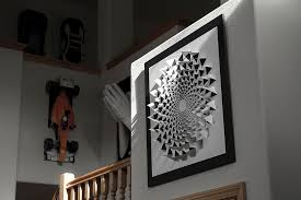 3d optical illusion mandala wall art using one sheet of paper on poster board wall art with infinity 3d paper wall art visualspicer