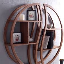 circular furniture. Fascinating Furniture For Home Interior Decoration Using Mounted Wall Circular Shelf : Fetching Image Of