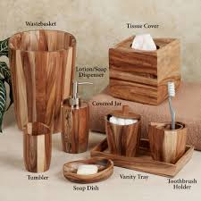 Bathroom Vanity Accessory Sets Home Bath Bath Accessories Wooden Bathroom Accessories Sets Tsc