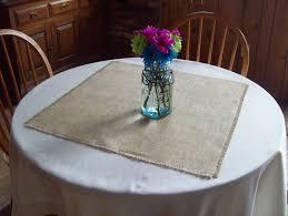 Burlap Round Table Overlays