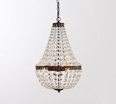 nib pottery barn mia faceted crystal pendant chandelier small size