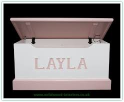 personalised toy box pine