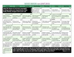 Good Deed Chart Good Deeds For Lent Amommyofthree