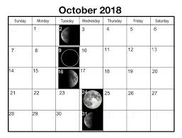 Moon Chart October 2018 Full Moon Calendar October 2018 Moon Phase Calendar Full