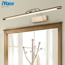Long Bathroom Light Fixtures Us 47 85 25 Off Iyoee Modern Bronze Indoor Led Wall Lights Top Mirror Nickel Vanity Picture Lighting Fixtures 45 75cm Long Bathroom Light 220v In