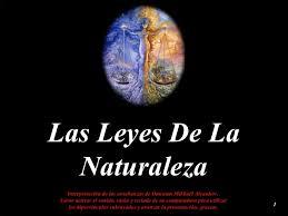 Las Leyes de la naturaleza
